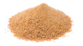 Coconut Sugar isolated on white Stock Photography
