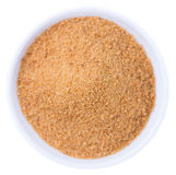 Coconut Sugar isolated on white Stock Photo