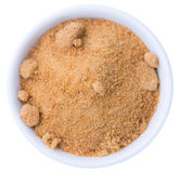 Coconut Sugar isolated on white Royalty Free Stock Photography