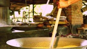 Coconut sugar production process..