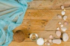 Coconut sunscreen still life Stock Image