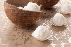Coconut sweet. Homemade sweet with coconut and crean cheese Stock Photography
