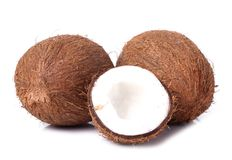 Coconut on the table Stock Photo