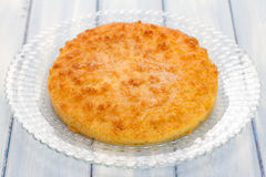 Coconut tart on dish Royalty Free Stock Images