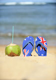 Coconut & thongs Stock Photography