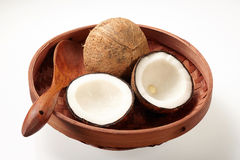 Coconut in Tray Royalty Free Stock Photography