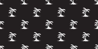 Coconut tree palm Seamless Pattern vector island isolated icon wallpaper background white vector illustration
