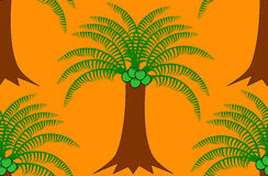 Coconut tree pattern Royalty Free Stock Image