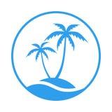 Resort logo in the circle vector illustration