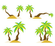 Coconut tree on sand beach summer vector design Royalty Free Stock Images