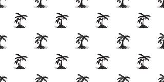 Coconut tree Seamless Pattern palm vector island isolated wallpaper background white. Coconut tree Seamless Pattern palm vector island isolated wallpaper tile Royalty Free Stock Photos
