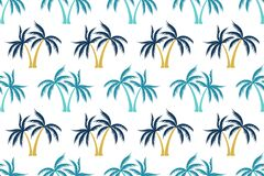 Free Coconut Tropical Palm Tree Summer Seamless Pattern Royalty Free Stock Image - 217781446