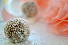Coconut truffles Royalty Free Stock Photography