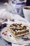 Coconut, vanilla buttercream and nuts cake Royalty Free Stock Photography