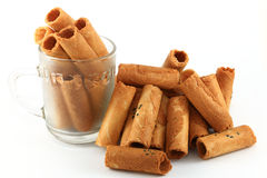 Coconut wafer rolls Stock Photography