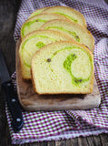 Coconut Walnut Pandan Bread Royalty Free Stock Image