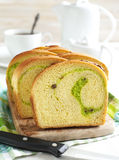 Coconut Walnut Pandan Bread Stock Images