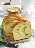 Coconut Walnut Pandan Bread Royalty Free Stock Photography