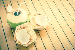Coconut Water Drink Stock Photo