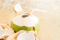 Coconut Water Drink Royalty Free Stock Photography