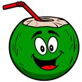 Coconut Water Mascot Royalty Free Stock Photography