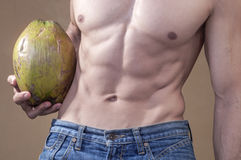 Coconut and weightloss Stock Photography