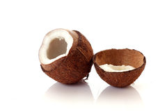Coconut on white Stock Images