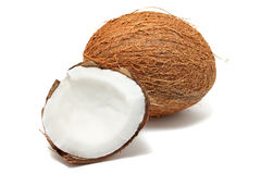 Coconut on white background Stock Photography