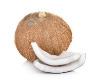 Coconut on white background Stock Image