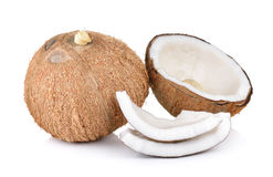 Coconut on white background Royalty Free Stock Photos