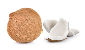 Coconut on white background Stock Photos