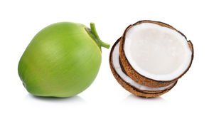 Coconut on white background Royalty Free Stock Images