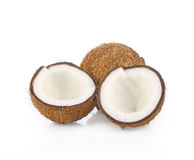 Coconut on white background. Coconut isolate on white background Royalty Free Stock Photos