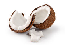 Coconut on a white background. Royalty Free Stock Photo