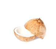 Coconut on white isolated Stock Photos