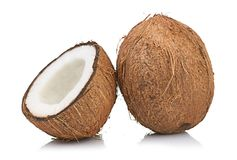 Coconut on white Royalty Free Stock Photo