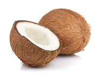 Coconut on white Royalty Free Stock Photography