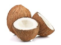 Coconut on white Stock Photo