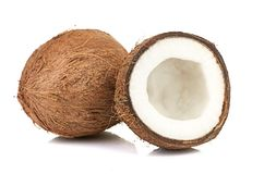 Coconut on white Stock Photography