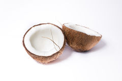 Coconuts. Slices isolated on white background Royalty Free Stock Photos