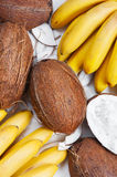 Coconuts and bananas Royalty Free Stock Image