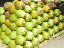 Coconuts for coconut water. Coconuts sold for healthy ,pure water Stock Photography