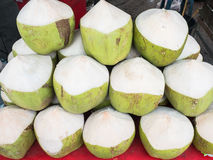 Coconuts. Fresh coconuts in the market Royalty Free Stock Image
