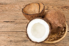Free Coconuts In The Basket Stock Photo - 74302200