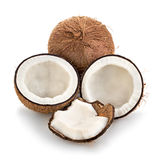 Coconuts isolated on white. Background Stock Photo