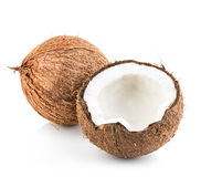 Coconuts isolated on white Royalty Free Stock Photos