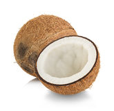 Coconuts isolated on white. Background Stock Photography