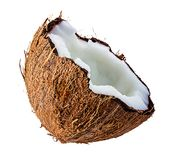 Coconuts isolated on white Royalty Free Stock Images