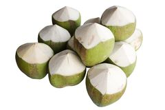 Coconuts isolated on white background. Fresh Coconuts isolated on white background Royalty Free Stock Photography