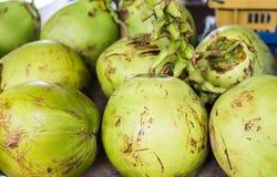 Coconuts at market Stock Photos